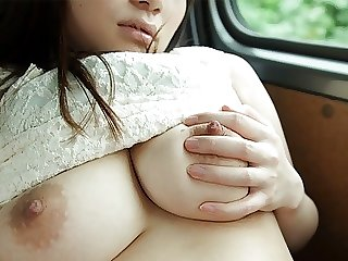 Japanese plumper, Mikoto Mochida likes down have car sex, unce