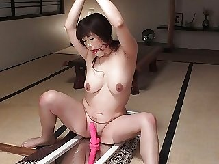Reiko Shimura is a horny plumper who got tied up
